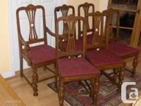 a set of 6 antique / vintage Colonial Revival Style