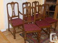 a set of 6 antique / vintage Colonial Revival Style