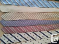 17 vintage neckties from 1980's and very early 1990's.