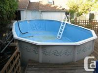 12' x 24' Large above ground pool. Fit. Consists of