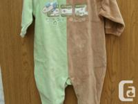 New w/out Tag Baby Boy Sleeper size 9M 80% COTTON 20%