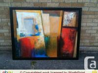 New IKEA acrylic framed abstract painting by Patrizio