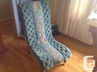 Beautiful. Eye catching Chair . Velvet upholstery with