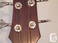 Beaver Creek Acoustic/Electric Bass Guitar and gig bag