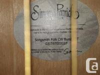 Simon Patrick Luthier acoustic. Beautiful sound. Model