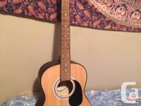 Parlor size Acoustic Guitar, excellent condition. Great