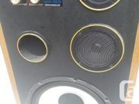 Heavy speakers, sound good, Front ported Dials to