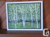 on canvas over light wood frame. local artist--recently