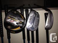 adams idea irons #P-5 R flex graphite shafts adams idea