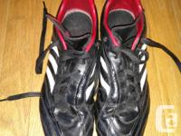 Marketing these fresh Adidas football cleats (size 8),
