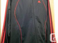 These are Used.  Black/Red Adidas Track Suit for sale