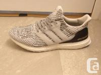Used, Ultra Boost Running Shoes Black and White (Zebra) Size for sale  Saskatchewan