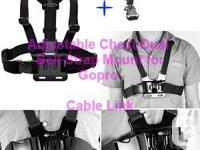 Adjustable Dual Belt Chest Mount Strap For Sports Cam,