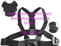 Adjustable Dual Belt Chest Mount Strap For Sports Cam,