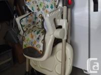 3 position reclining back for babies, 6 position height