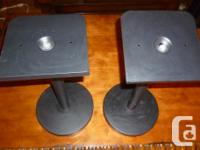 Hi, this is a pair of metal speaker stands with round