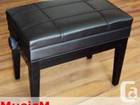 Adjustable Piano Bench with Book Storage $149.00 Solid