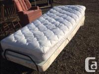 this is an electric bed with remote the allows for the
