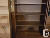This bookcase is very solid and heavy and is in