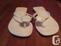 """Adorable Aldo sandals, they have a pearly white """"shell"""""""