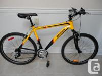 elling an adult size RALEIGH 21 speed mountain bike