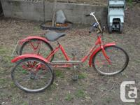 I am selling my adult tricycle..the tires need some air