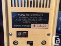 ADVENT FM Radio. Speaker and unit are separate.