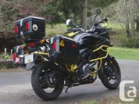 This Vstrom 650 EXP with ABS has been set up for your
