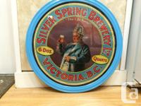 Vintage period silver spring brewery advertisement. In