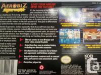 Aerobiz Supersonic for the Super Nintendo in box.