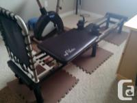 3 cord performer on stand with foot barr, rebounder,