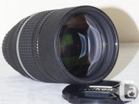 Nikon's medium telephoto portrait prime lens allows