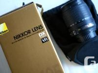 NIKON AF-S DX 18-105mm ED VR with original box and