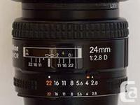 I am selling Nikkor 24 mm f/2.8D lens for Nikon SLR