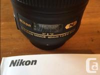 AF-S Micro Nikkor 60mm f/2.8G ED Excellent condition,