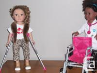 "My Life As African American 18"" doll and 1 blonde hair"