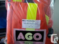 Hi,  Brand new in bags AGO safety clothing.       1