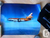 "- CP-Air DC-10 24""x18"" $8 - USAF F-104's formation 33"""