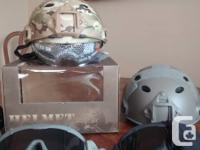 1 Multicam and 1 Green Emerson Helmet. 1 Black and 1