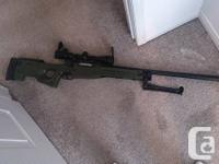 Well L96 bolt action sniper.  -OD Green -410 fps with