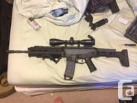 An ACR by magpul pts. 3 months old. gamed it twice.
