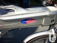 The electric bike is called a Powabyke, made by