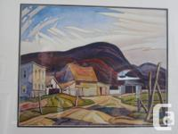 "Rare ""West Guilford"" print by AJ Casson. Beautiful,"