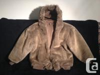 Fully reversible Wool Jacket to Faux Fur. A really warm