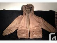 Akademiks men's winter jacket wool reversible. Item