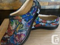 Alegria PG Lite Kayla Monarch leather clog shoes for
