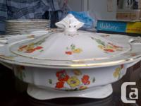 105 pieces of Alfred Meakon dinner ware Serving
