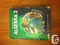 Selling Algebra 2 McDougal Littel.  In wonderful