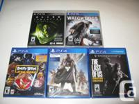 All PlayStation games sealed. PS3 Alien Isolation -