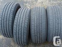 4 all-season Michelin tires, 195/60 R15, less than half
